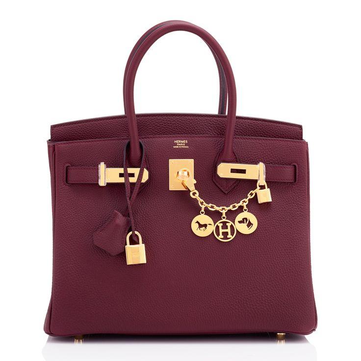 Hermes Birkin Bag 30cm Bordeaux Togo Gold Hardware Image 4