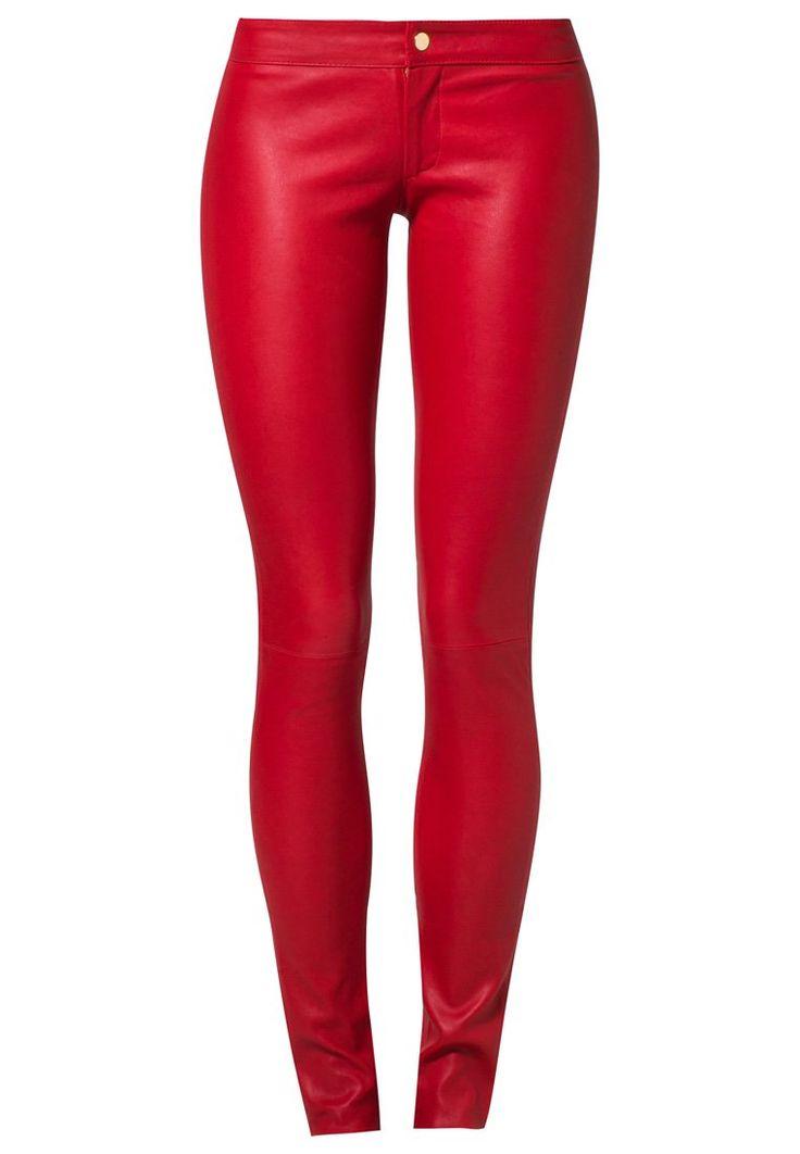Super #skinny #rode #leren broek van SLY 010 @ Zalando