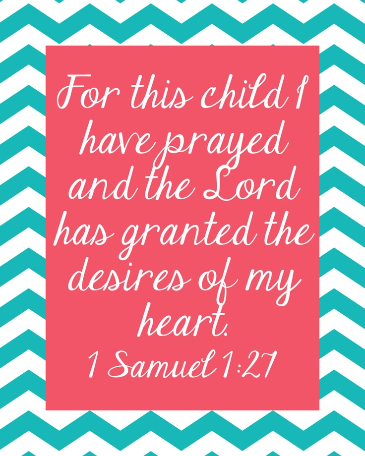 For this child I prayed Printable Chevron Wall by PinkSandDollar