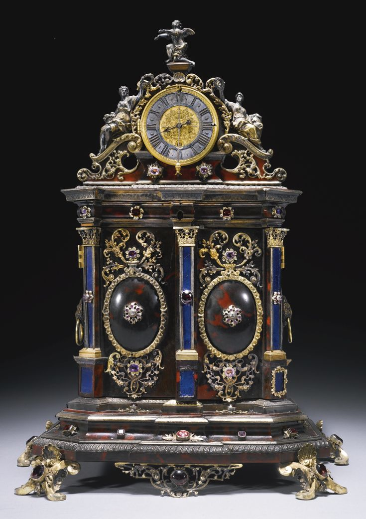 A silver mounted turtleshell tabernacle clock, Jacob Mayr, Augsburg, circa 1700, | Lot | Sotheby's