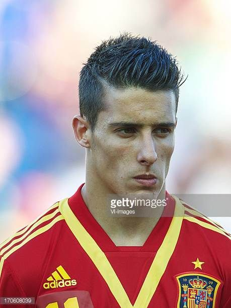 Cristian Tello of Spain U21 during the UEFA EURO U21 championship semifinal match between Spain and Norway on June 15 2013 at the Municipal Stadium...