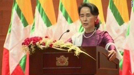 In a national address, Myanmar's de facto leader Aung San Suu Kyi says the country wants to know why hundreds of thousands of Rohingya have fled to Bangladesh.