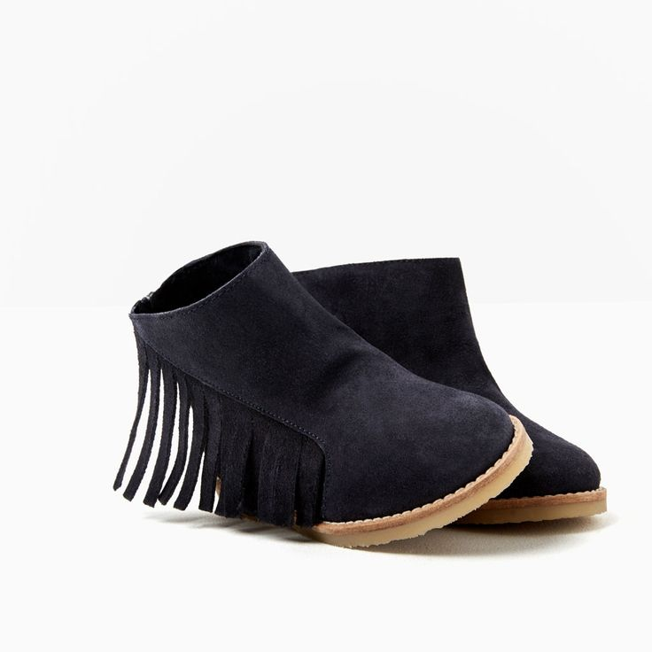 FRINGED LEATHER BOOTS WITH ZIP-SHOES-Baby girl-Baby   3 months - 3 years-KIDS   ZARA United States