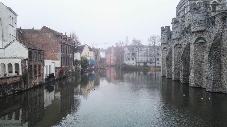 Gand - Il Castello e il canale