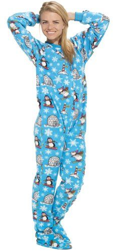 Footed Pajamas offer the best Footed Pajamas Winter Wonderland Adult Fleece - Small. #pajamas #footed