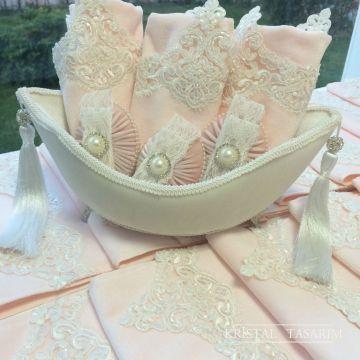 Góndola Juego de toallas | Polvo rosa y marfil