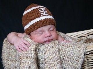 too cute , baby american  football hat by bLuEeLmO