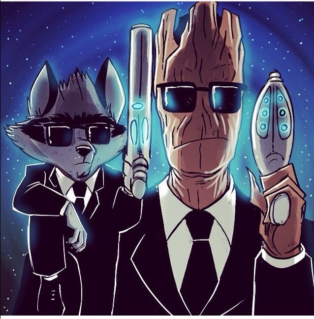 Groot and rocket MIB