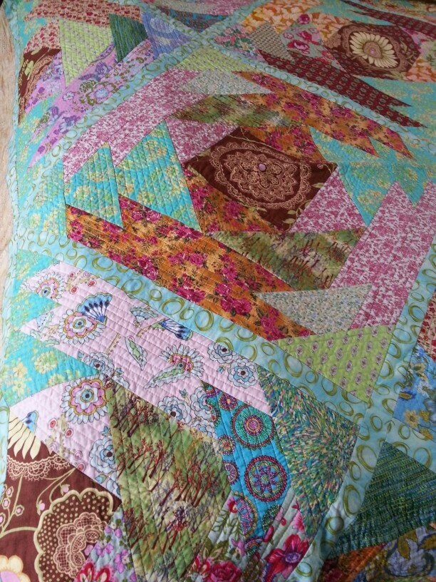 Detail of giant pineapple quilt
