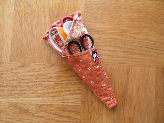 Decorative Scissors Holder by ThatPincushionPlace on Etsy