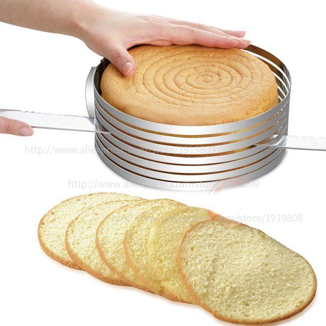 Премиум Сгущаться мусс, торт срез регулируемый выпечки прессформы ломтик круглый многоуровневого выпечки плесень