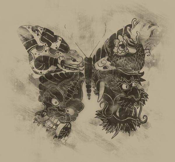 japanese butterfly art print