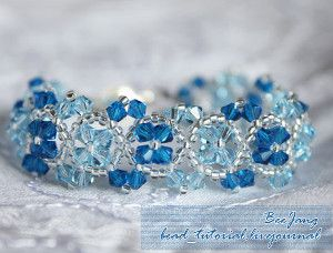 Make a bracelet in the image of winter when you make the Snowflower Bracelet Pattern.
