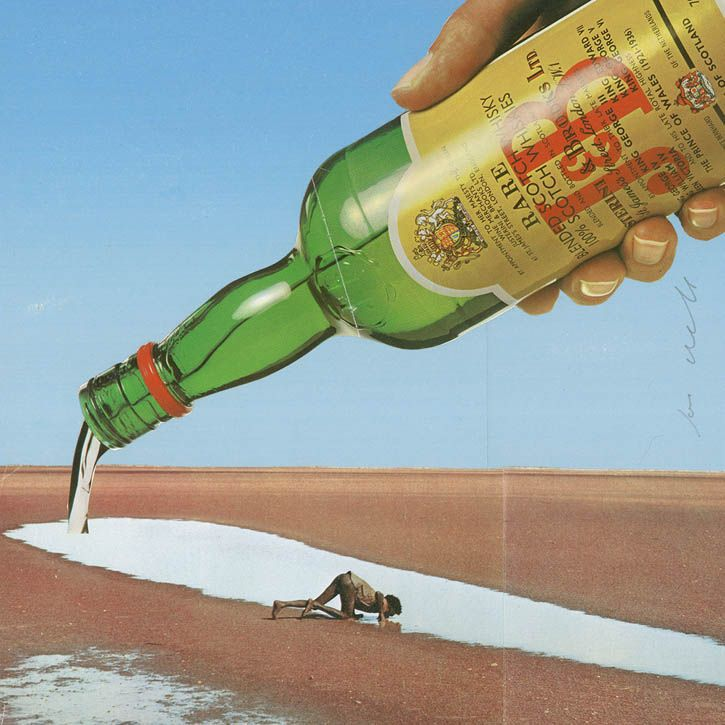 En images : les collages surréalistes de Joe Webb. (I see My last drop of ...Champagne!)