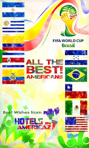 Good luck to all American Players at the #FIFAWorldCup in #Brazil! Best wishes from HotelsInAmericaz.Com.