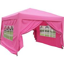 MCombo 10x10 ft EZ POP UP 4 Walls Canopy Party Tent Gazebo With Sides in Home & Garden, Yard, Garden & Outdoor Living, Garden Structures & Shade, Awnings & Canopies | eBay