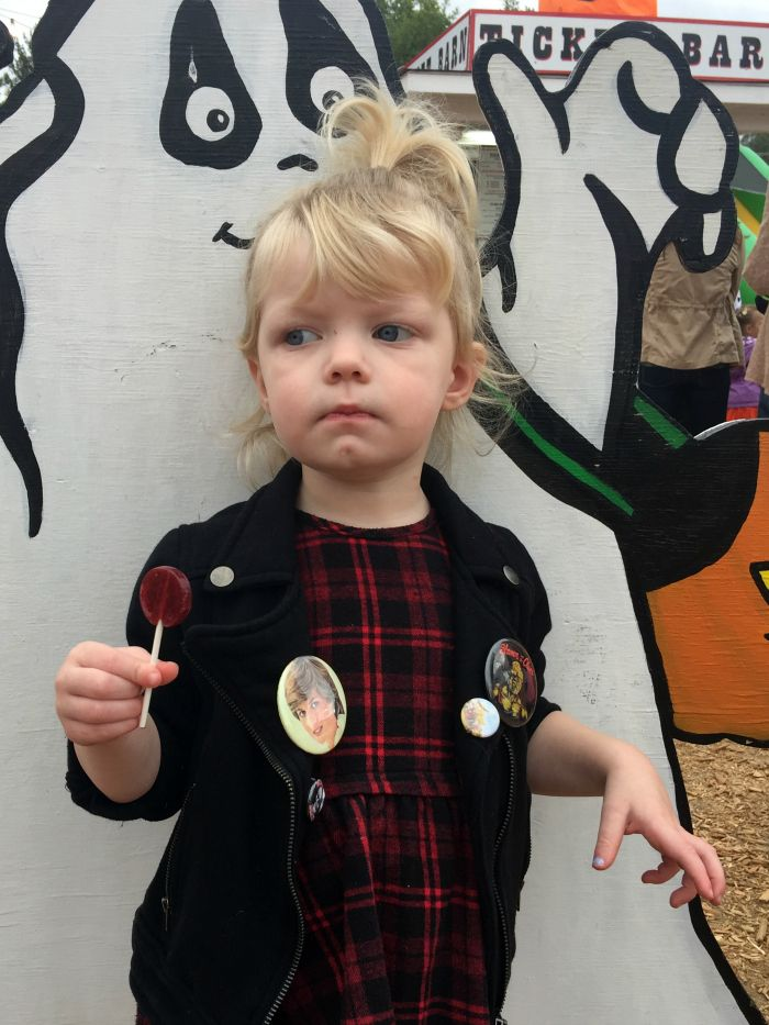 Outfit Details:  Dress  - Nordstrom Rack  Jacket  - Hand-me-down from her cousin Evelyn  Knee Socks  - Old Navy  Boots  - Coco Jumbo    ...
