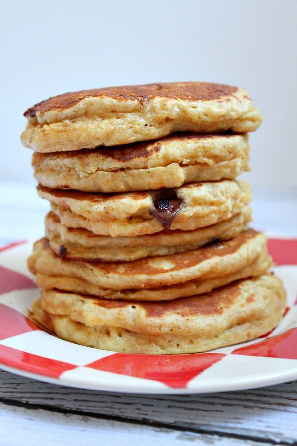 Fluffy Peanut Butter Pancakes Recipe @recipegirl