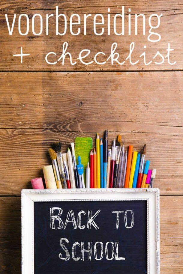 Back2school: voorbereiding nieuw schooljaar + handige checklist