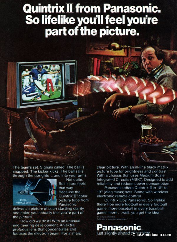 The super-lifelike picture on Panasonic televisions (1977)
