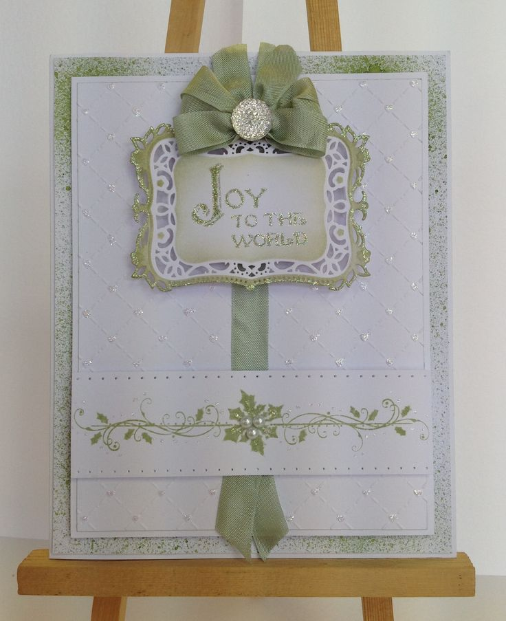 8x7 Card, made by me, using  Sentimentally Yours Christmas Sentiments Stamps and Sentimentally Yours Festive Borders Stamps :-)