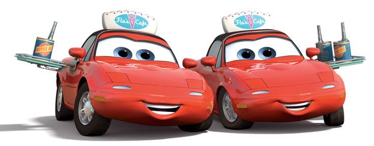 """Mia and Tia are characters in the 2006 Disney/Pixar animated film, Cars. They also make a cameo in Cars 2. They are voiced by Lindsey Collins and Elissa Knight respectively. """"Mia and Tia haven't missed a race in over a year, but they'd be the first to tell you they're not race fans, they're Lightning McQueen fans! Painted in his signature red and covered in McQueen stickers, the girls scream like crazy when McQueen races, they scream like crazy when he poses for phot..."""
