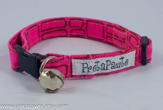 Cat Collar Breakaway Cat Collar by PretaPawte on Etsy, $15.00