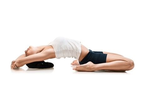 Supta Virasana – to correct prolapsed uterus. This asana is a less strenuous version of the classic pose. Regular practice of this asana calms a restless and agitated mind. For details see