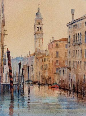 Artist: David Howell, PRSMA; Painting: Chiesa San Giorgio Dei Greci