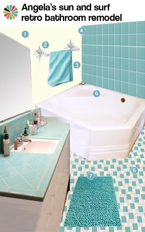 102 best images about bathroom on pinterest chevron - Yellow and turquoise bathroom ...