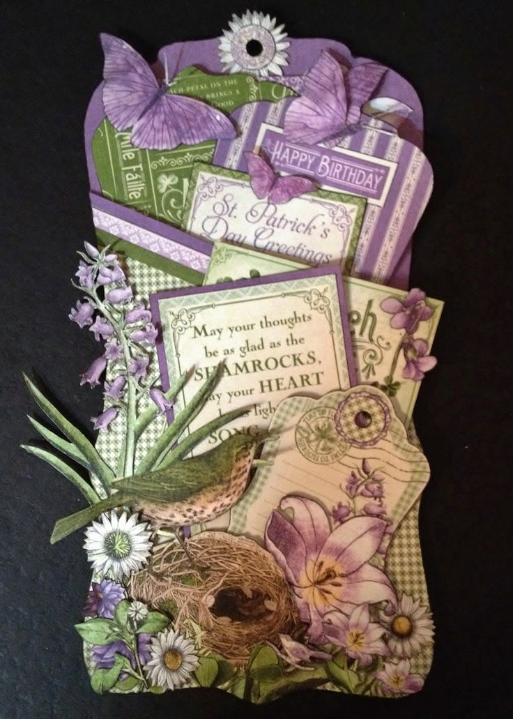 Graphic 45 Time to Flourish tag card by Anne Rostad