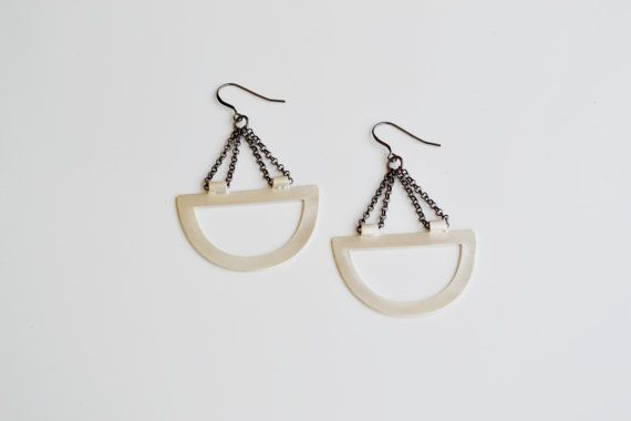 SCALE Earrings - Brass - Silver or Gold Plated