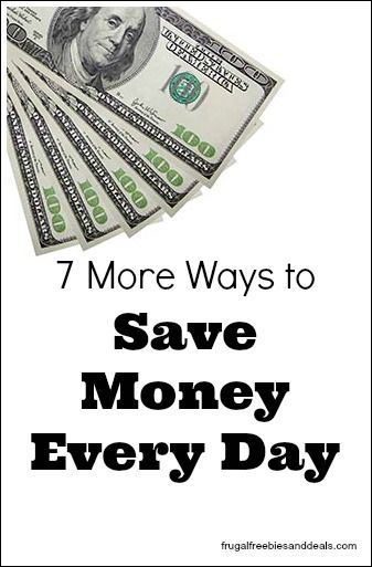 I thought I would make a list of some more ways that we could save money in our everyday lives. I would love to hear from all of you and your ideas for saving money daily- because saving a $1 a day is $365 at the end of the year.