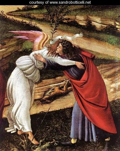 The Mystical Nativity (detail 1) c. 1500 - Sandro Botticelli (Alessandro Filipepi) - www.sandrobotticelli.net