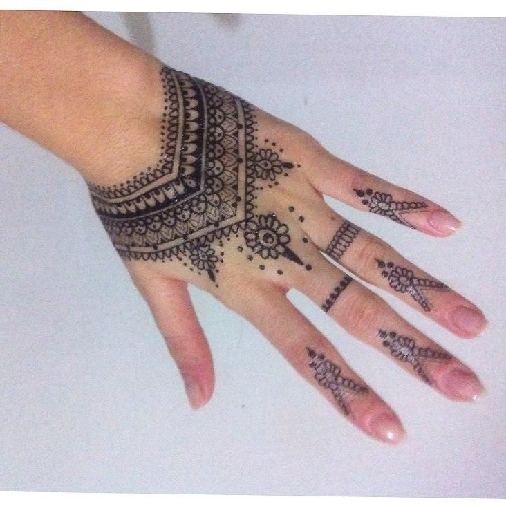 Indian Style Henna Temporary Tattoo Sticker For Women Tattoos