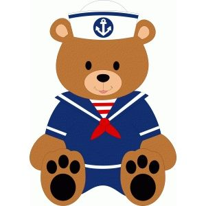 Silhouette Design Store - Search Designs : sailor bear