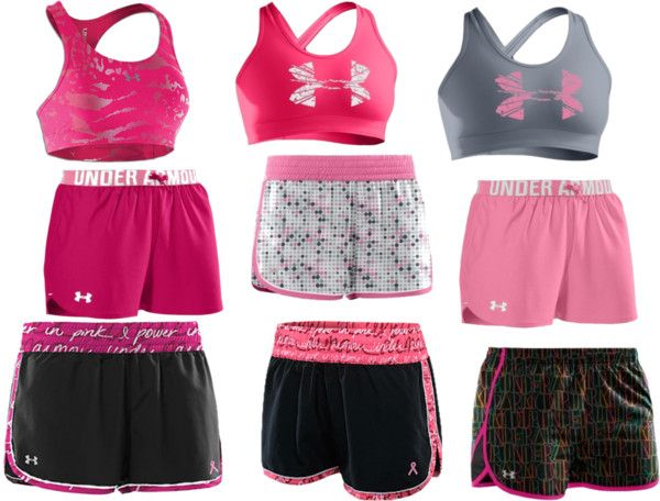 """""""underarmour"""" by shanna-thom on Polyvore: Cheer Outfit, Fit Workout, Sporty Outfit, Workout Clothing, Women Apparel, Under Armour Workout Outfit, Armour Women, Athletic Clothing, Underarmour"""