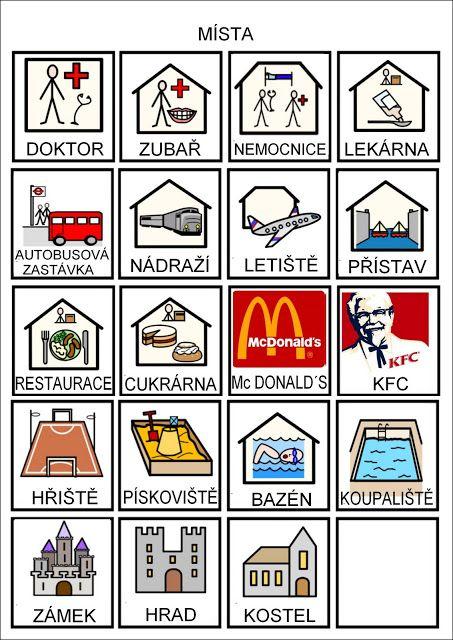 Tak TROCHU ... jiný svět: Místa - piktogramy