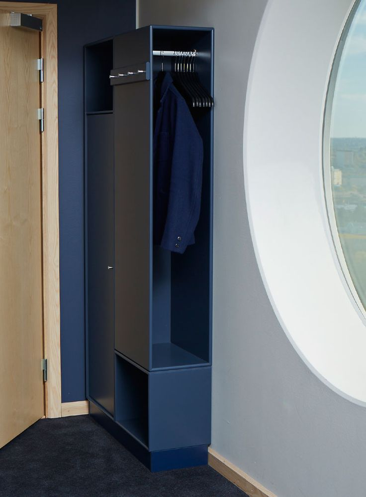 Hotel with Montana #montanafurniture #blue #wardrobe #storagesystem #interiordesign