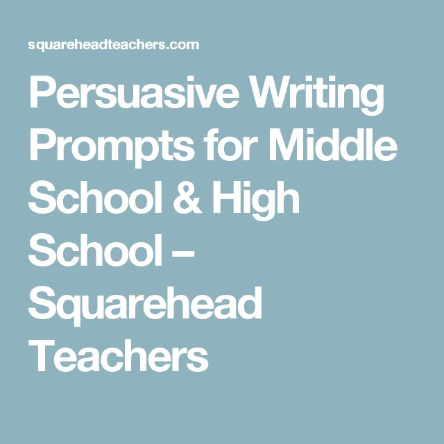 creative writing middle school ideas