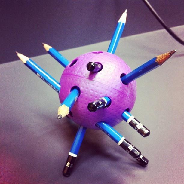 Floorball pencil holder