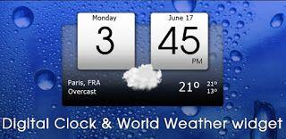Digital Clock & World Weather v1.05.48 (Mod Ad-Free)  Martes 27 de Octubre 2015.By: Yomar Gonzalez ( AndroidfastApk )  Digital Clock & World Weather v1.05.48 (Mod Ad-Free) Requisitos: 2.3  Descripción: Reloj Digital y el clima mundial es una aplicación de tiempo con todas las funciones y widgets. La aplicación y el widget de disponen lo siguiente: - 10 pieles de widgets para elegir (más pieles que vienen en el futuro) - Apoyo (externos) paquetes de temas adicionales - Icon 4 Tiempo de pieles…