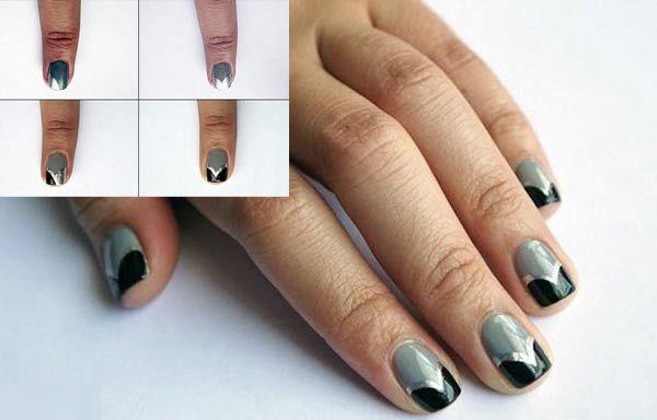 12 diseños de uñas para hacer en casa paso a paso, Diseño de uñas para hacer en casa elegante. Clic Follow, Unete al CLUB #uñasbonitas #nailsCLUB #uñasfinas