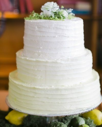 Pale Ombre Wedding Cake