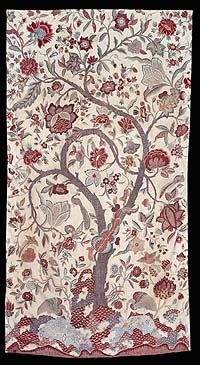 Eighteenth century Moghul Tapestry, depicting the Tree of Life. Ashmolean Museum, Oxford.