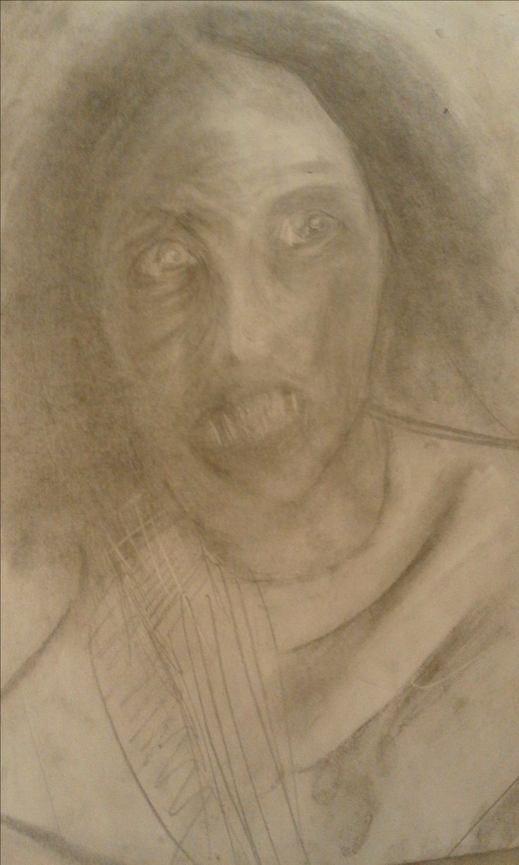Graphite and Charcoal Drawing by artist Ruth Clotworthy