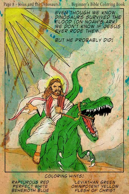 .: Jesus Riding, Dinosaurs Art, Noah Ark, Growing Up, Funny, Portraits, Coloring Books, Color Book, Fields