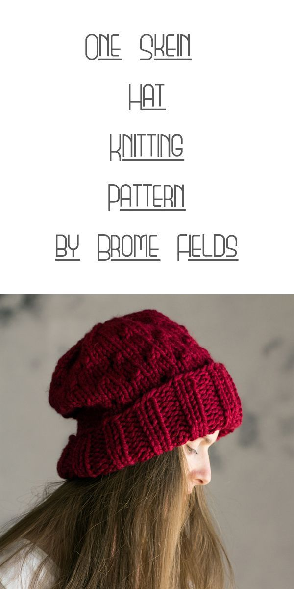 One Skein Hat Knitting Pattern by Brome Fields | Knitting | Tejidos ...