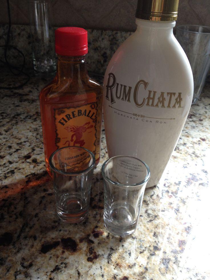 Cinnamon Toast Crunch. 1/2 shot Fireball 1/2 shot Rum Chata
