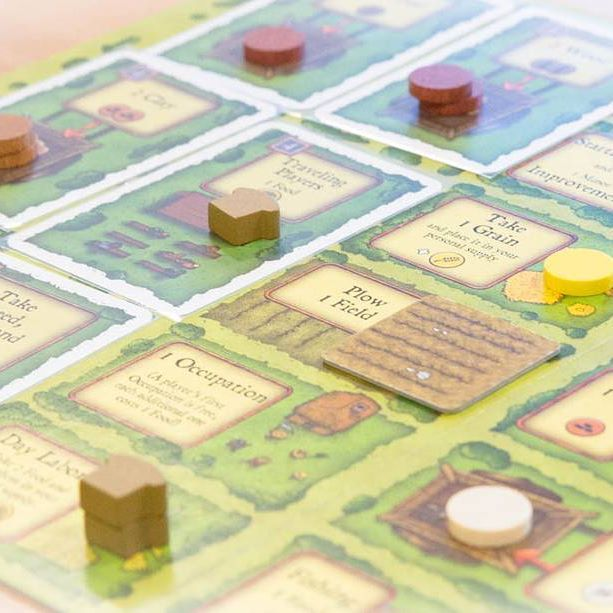 In Agricola, you're a farmer in a wooden shack with your spouse and little else. There are 14 game rounds occurring in 6 stages, with a Harvest at the end of each stage #agricola #farming #boardgames #brætspil #brädspel #brettspill